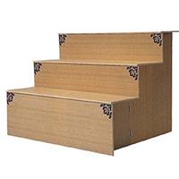 後飾り段3段木製
