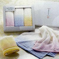 泉州タオル 彩り織りフェイスタオル3P